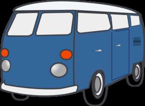 299x219 Blue Van Clipart
