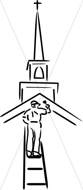 268x612 Deacon Tending To The Church Church People Clipart