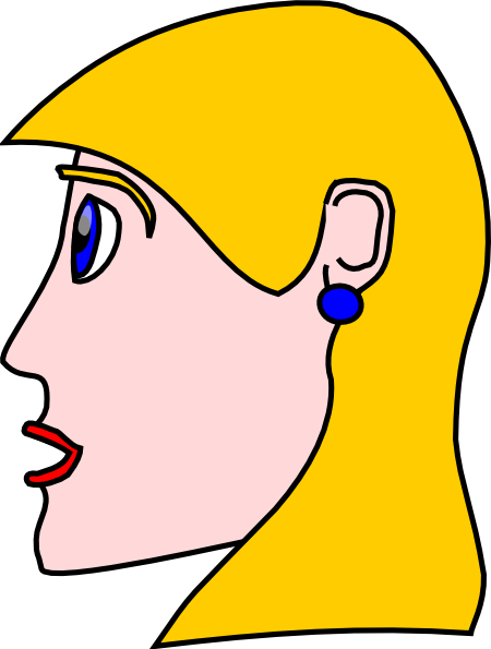 450x595 Head Lady Woman Blond Clip Art