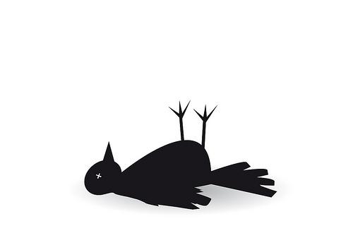 500x354 Dead Clipart Dead Bird