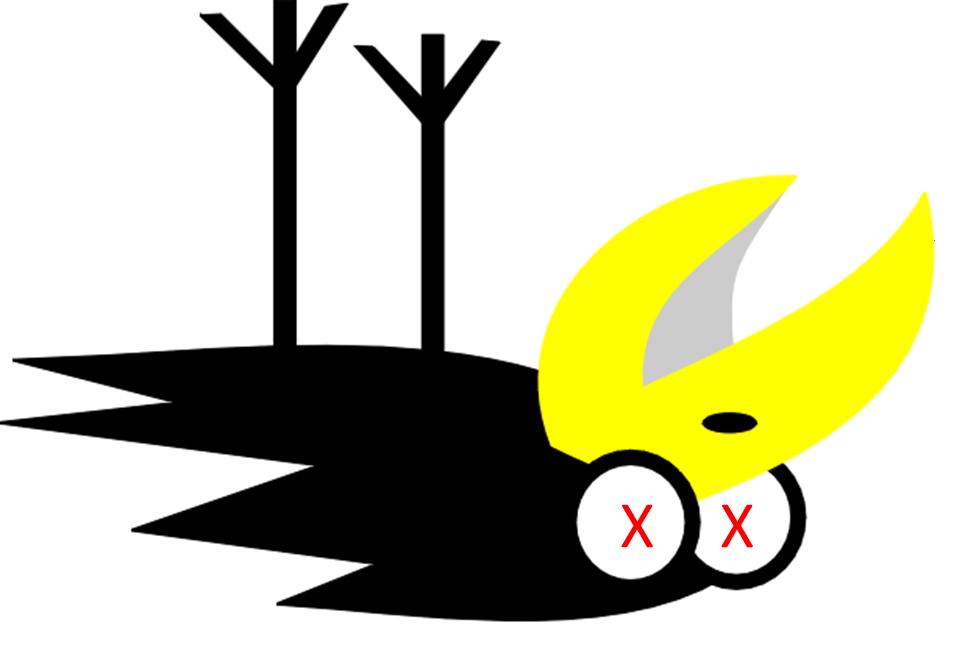 965x648 Falcon Clipart Dead