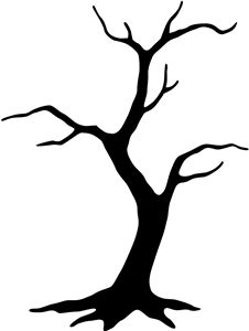 226x300 Dead Tree Clipart Traceable
