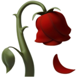 256x256 Wilted Flower Emoji U 1f940