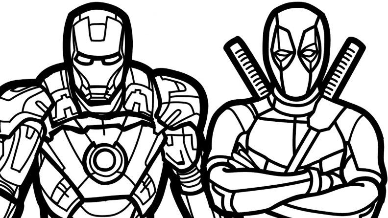 792x446 Coloring Page Amusing Deadpool Coloring Pages Page Deadpool