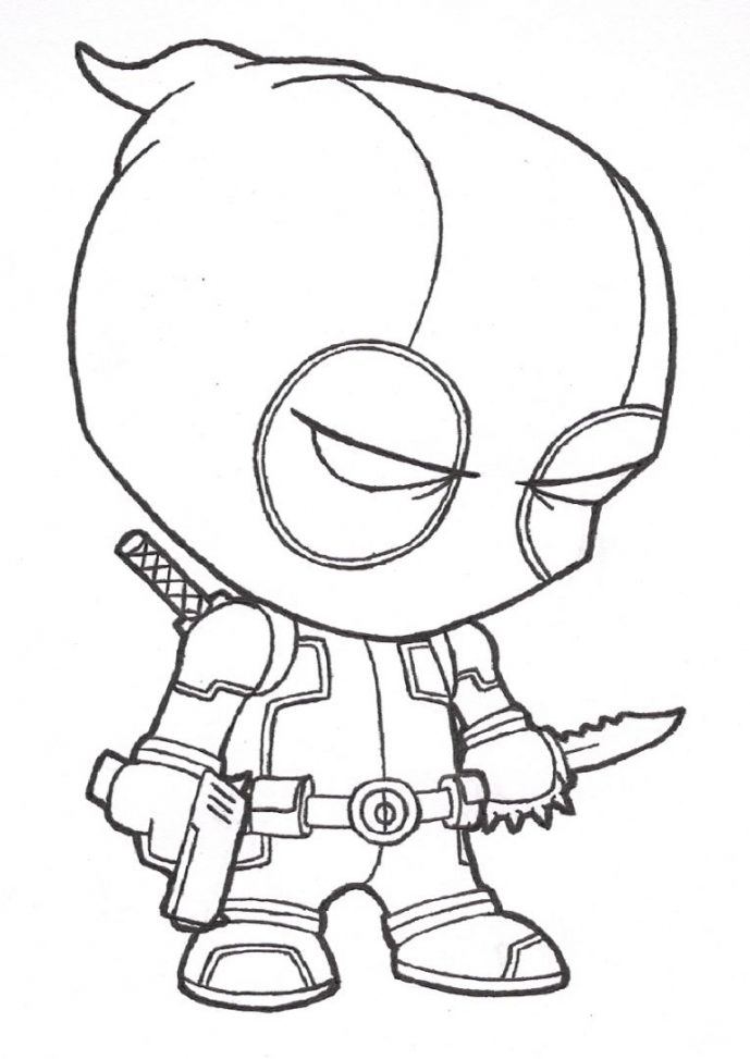 689x973 Coloring Page Fabulous Deadpool Coloring Pages Page Deadpool