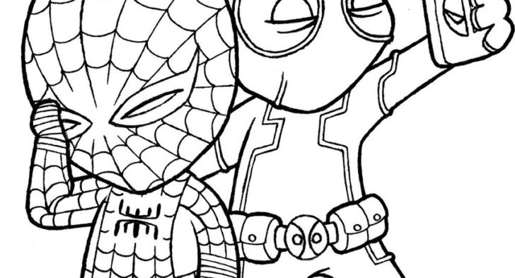 728x393 Coloring Page Of Deadpool Free Printable Deadpool Coloring Pages