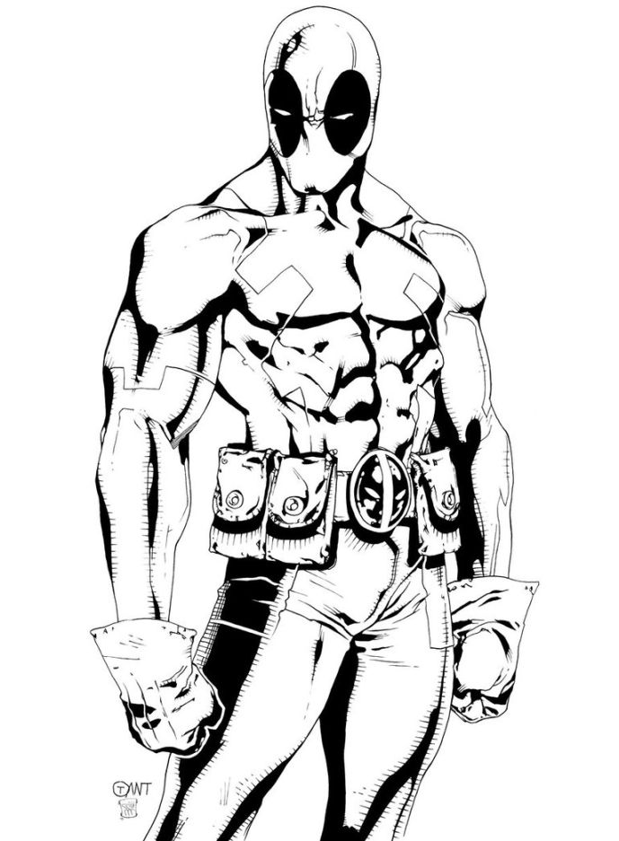 Deadpool Coloring Pages   Free download on ClipArtMag