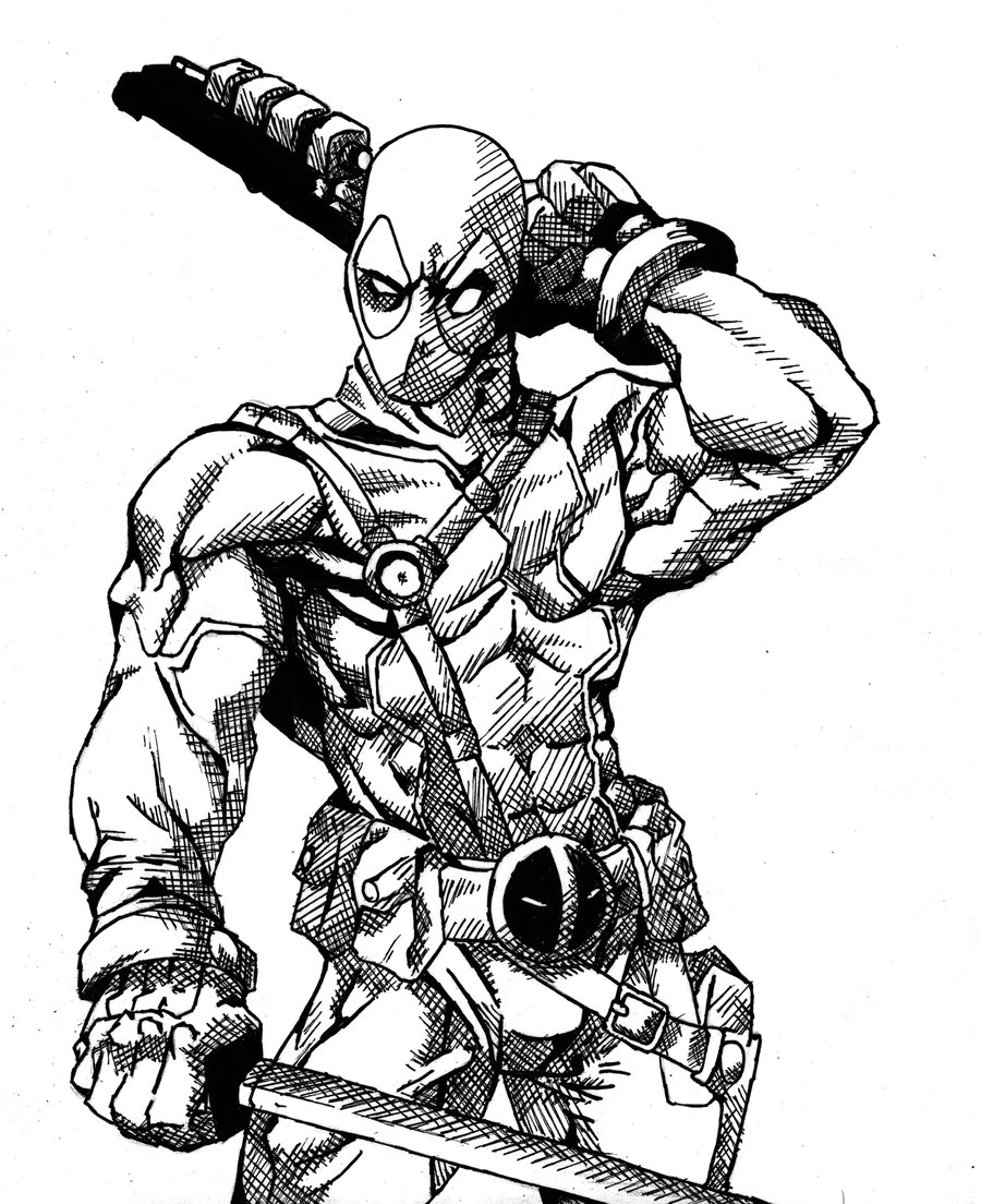 Deadpool Coloring Pages | Free download on ClipArtMag