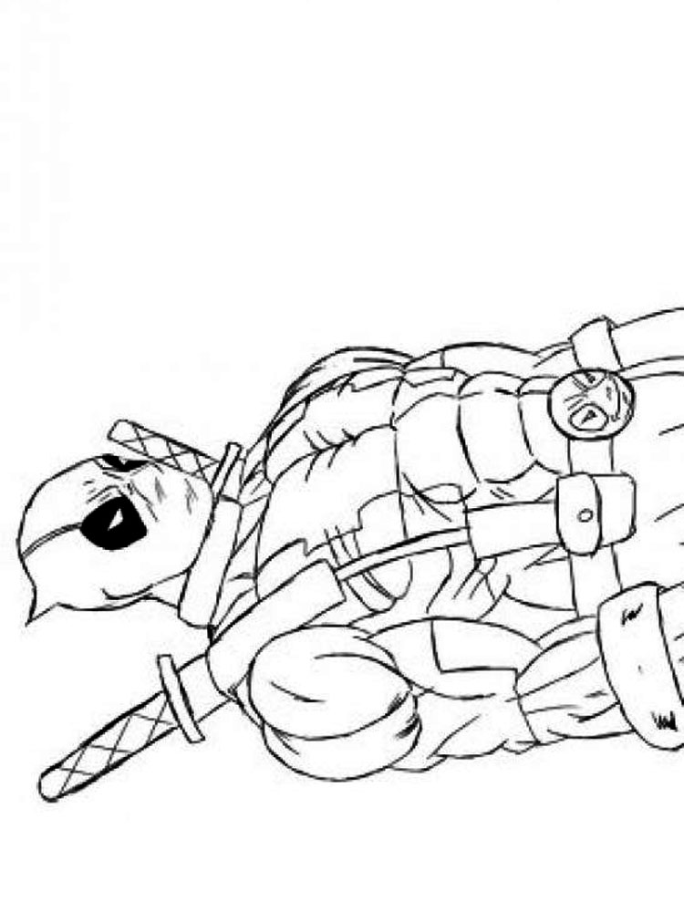 Deadpool Coloring Pages | Free download best Deadpool Coloring Pages ...