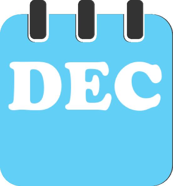 552x595 December Teal Clip Art
