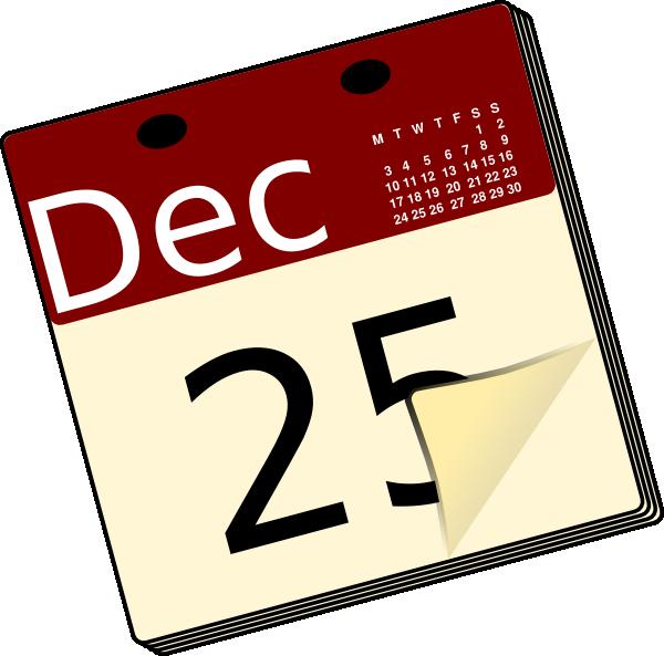 600x593 Calendar Clip Art