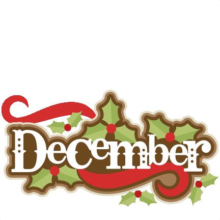 432x432 Large December Title 3 Clip Art