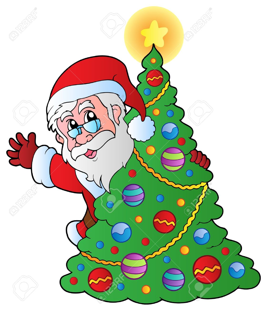 1122x1300 Santa With Christmas Tree December Clipart, Explore Pictures