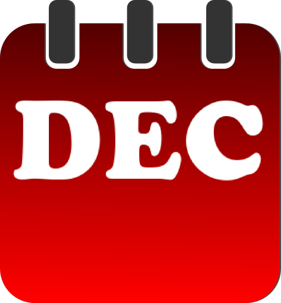 552x595 December Calendar Clip Art