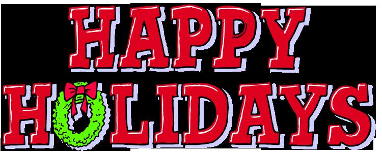750x299 Happy Holiday Clip Art