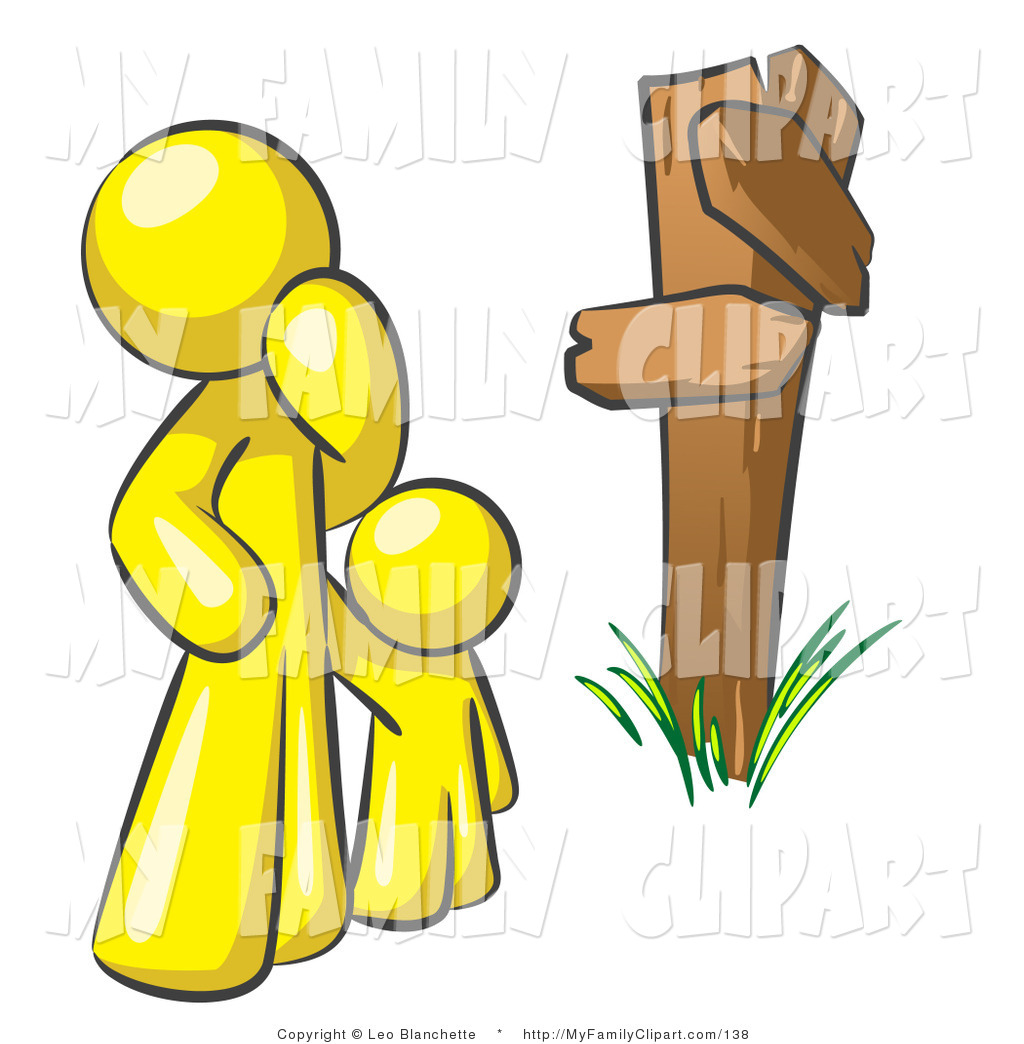 1024x1044 Clip Art Of An Uncertain Yellow Adult And Child Standing