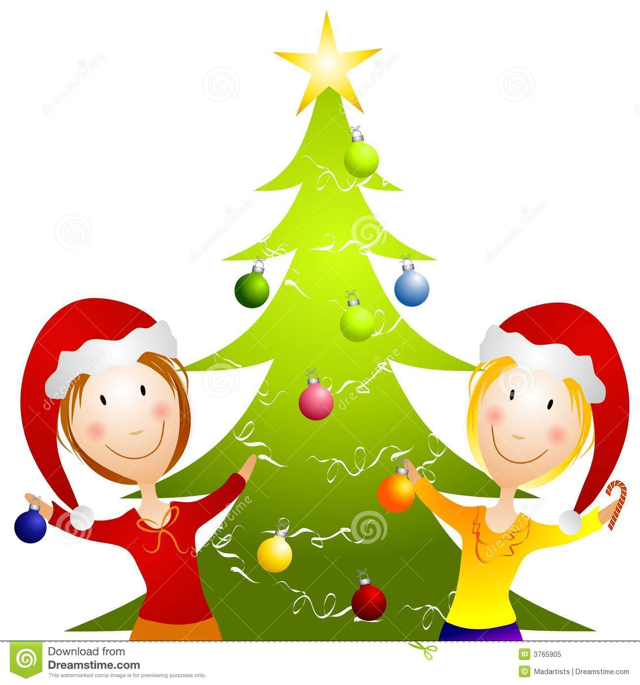 1300x1390 Christmas Tree Decorating Party Clipart