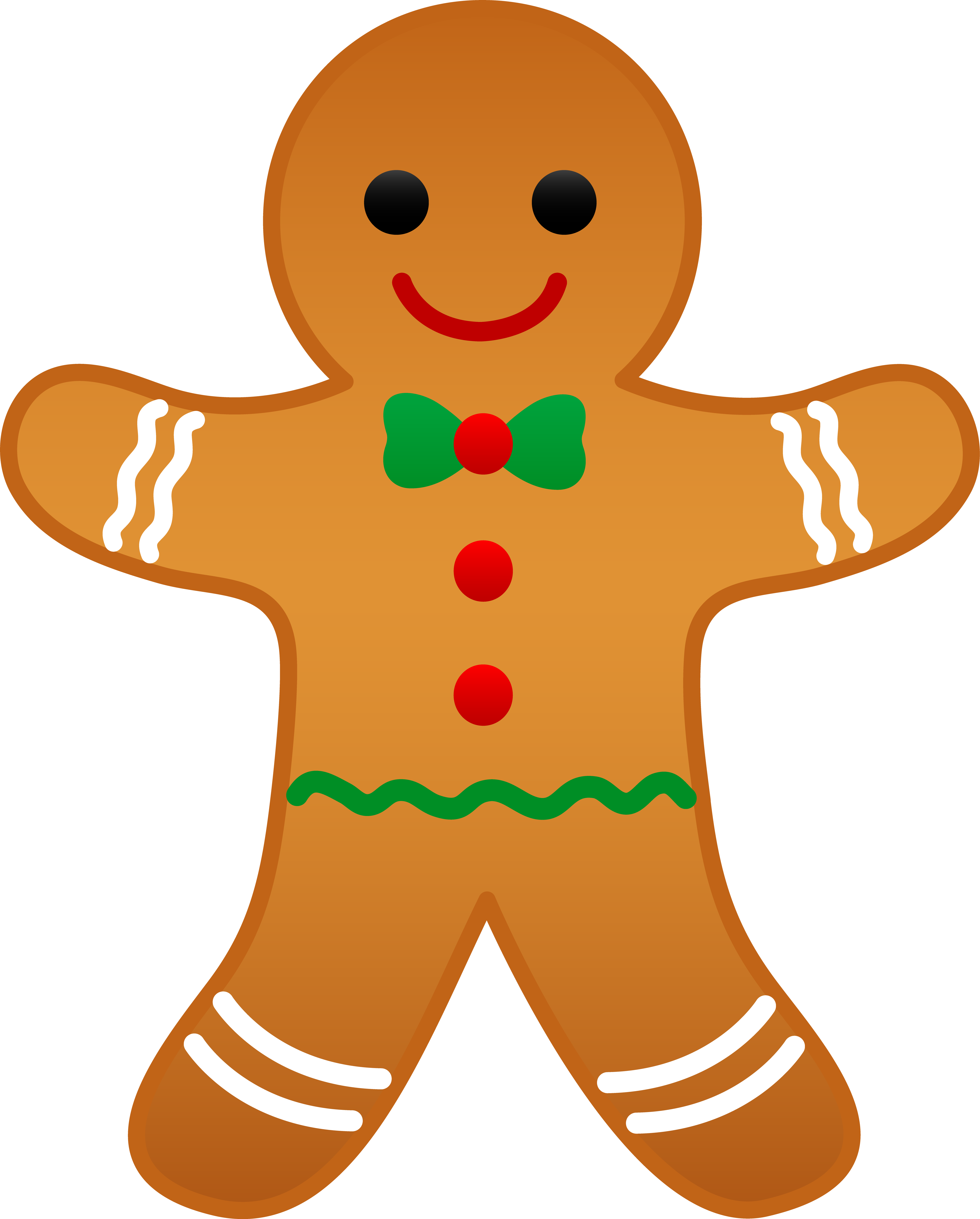 5233x6509 Christmas Gingerbread Man Clip Art Cards