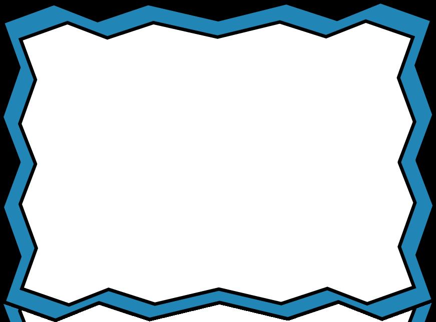 871x645 Blue Zig Zag Frame