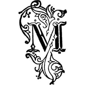 300x300 Decorative Alphabet Letters Clip Art