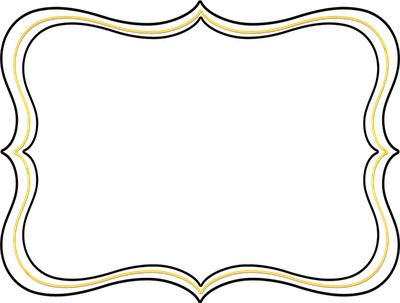 400x303 Decorative Frame Clipart Free