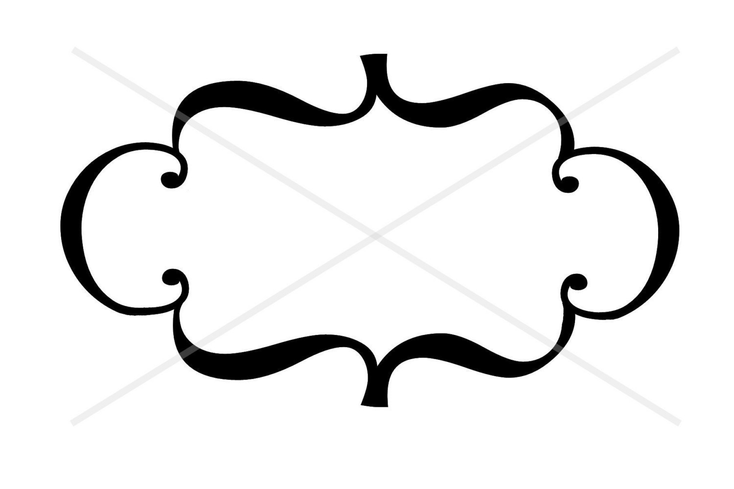 1500x1000 Decorative Line Borders Clip Art