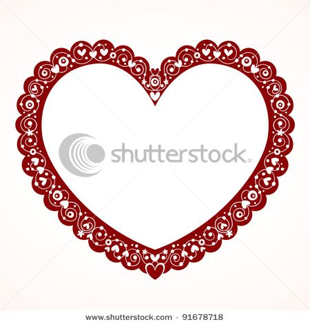 450x470 Picture Of A Decorative Frame In The Shape Of A Heart In A Vector