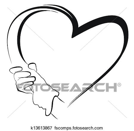 450x439 Stock Illustration Of Hands Holding To Heart Shape K13613867