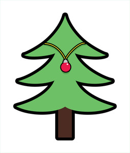 254x300 Christmas Tree Decorative Shape Royalty Free Stock Image