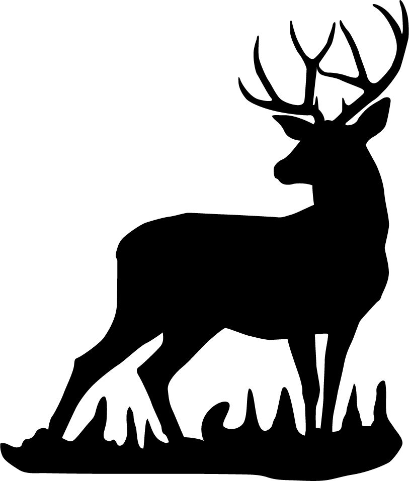 813x957 Deer Head Silhouettes