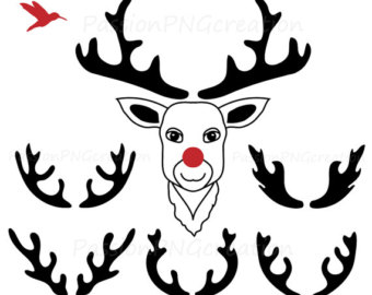 340x270 Antler Clipart Silhouette