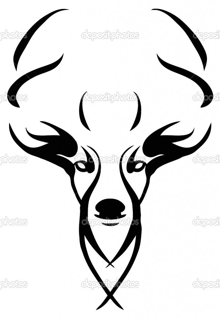 708x1024 Deer Skull Clipart