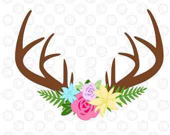 340x270 Floral Antler Etsy