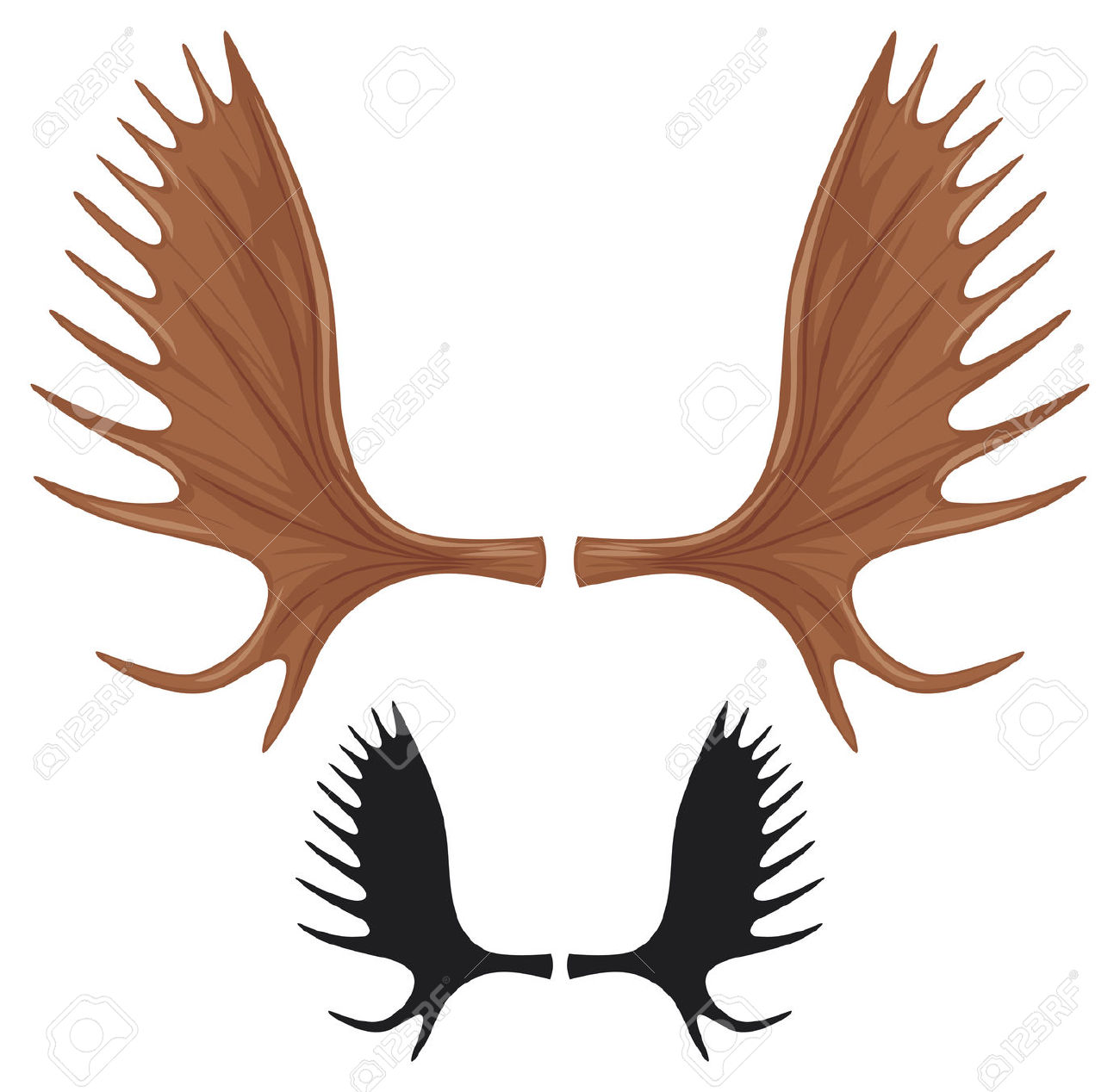 1300x1268 Moose Antlers Clip Art Clipart