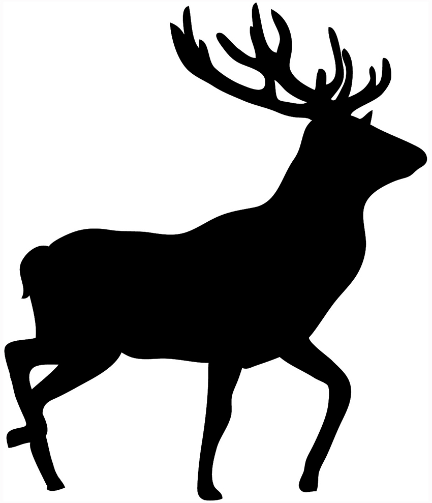 850x989 Deer Clipart Black And White