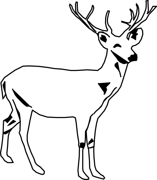 516x594 Deer Head Clipart Black And White Free Clipart