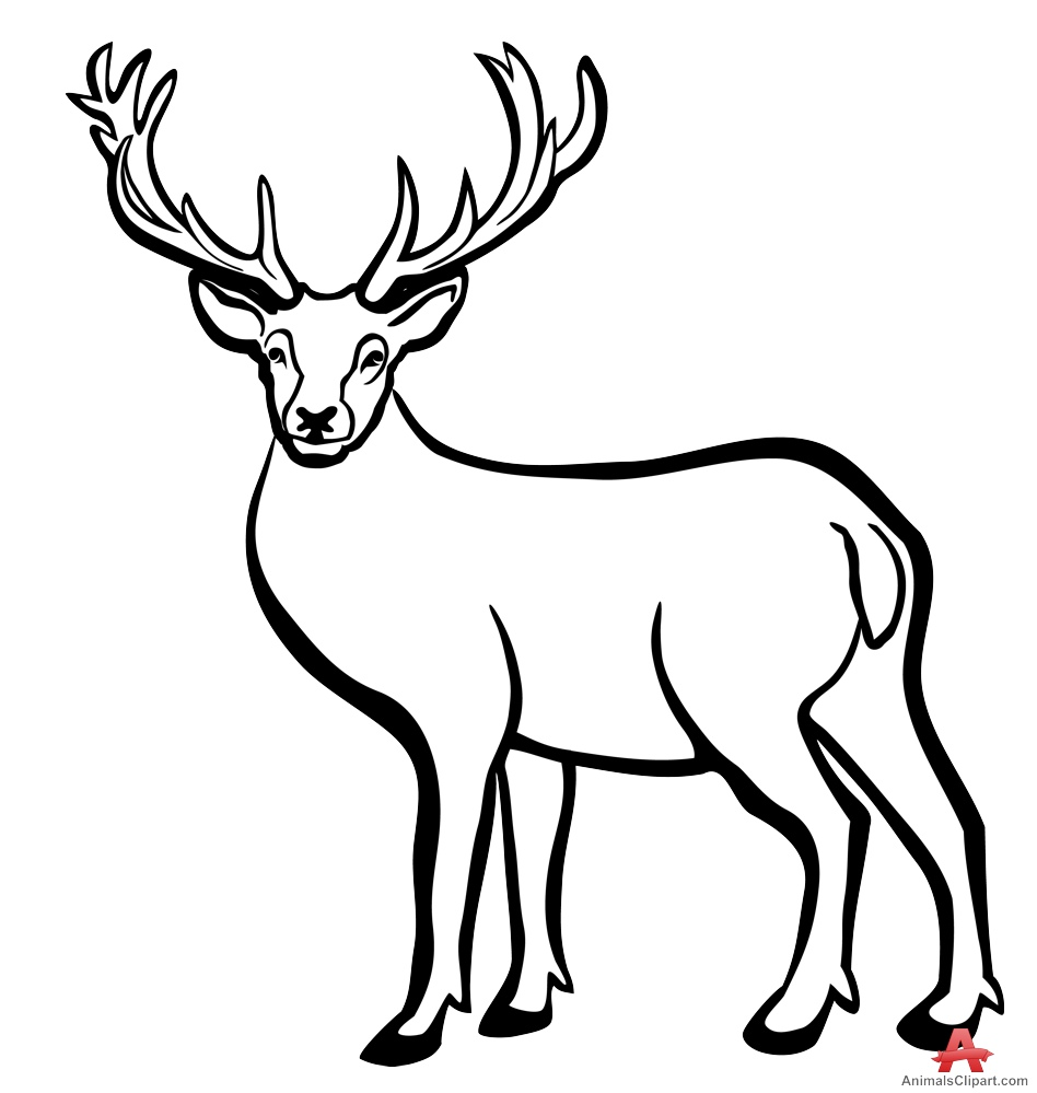 948x999 Antelope Clipart Black And White