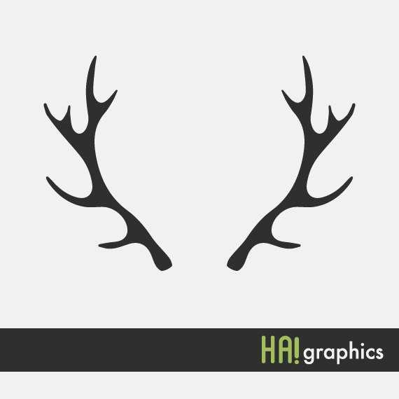 570x570 Deer Antlers Clipart Black And White Clipart Panda