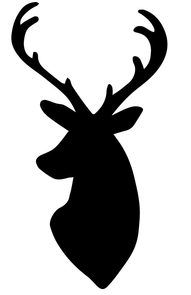 651x1006 Deer Outline Clipart Black And White
