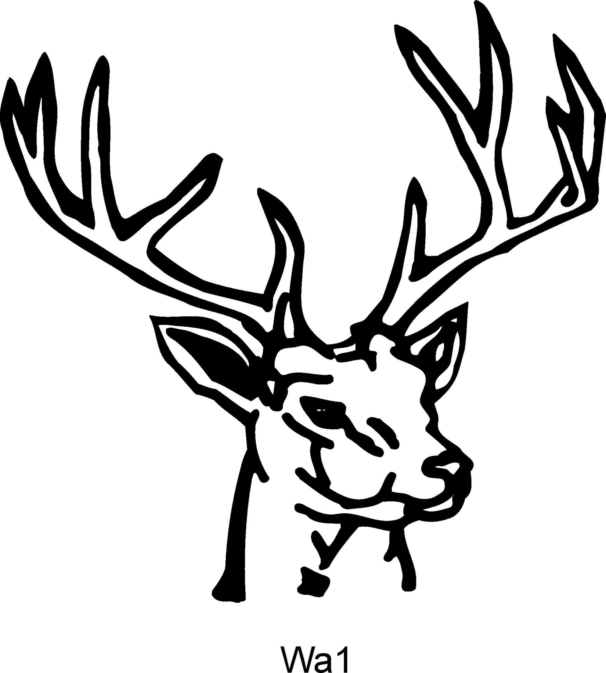 1986x2204 Deer Head Clip Art