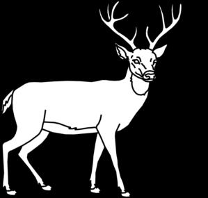 299x285 Deer Outline Clip Art