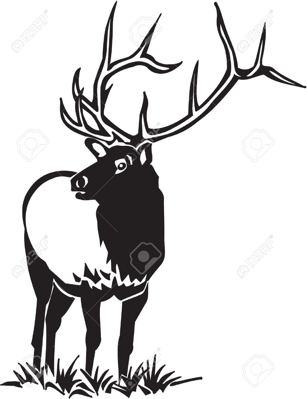 1001x1300 Top 83 Elk Clipart