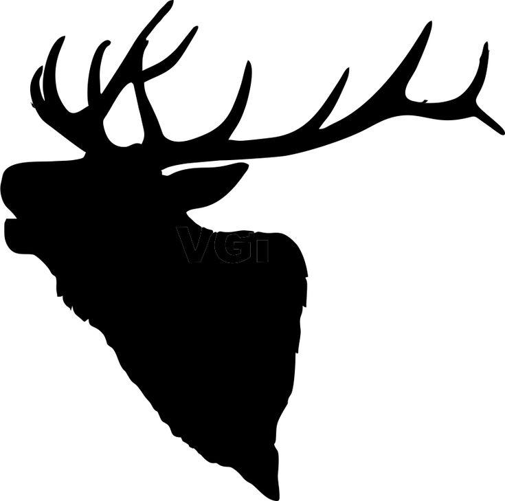 735x729 Best Elk Silhouette Ideas Deer Head Silhouette