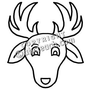 300x300 Deer Face Clipart