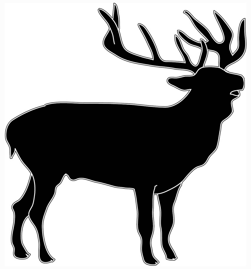 850x908 Stag Clipart Deer Drawing