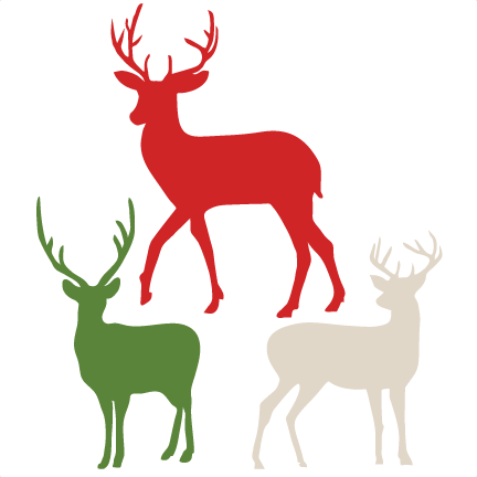 432x432 Flying Reindeer Silhouette Deer Outline Profile Clip Art