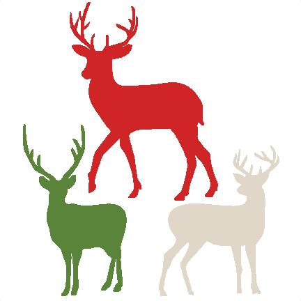 432x432 Flying Reindeer Silhouette Deer Outline Profile Clip Art