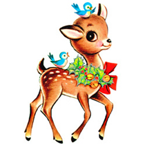 210x210 Christmas Deer Clipart