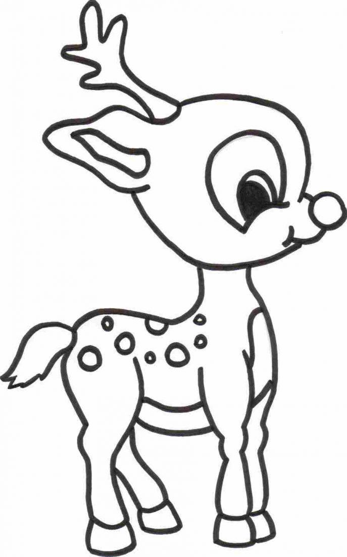 687x1102 Coloring Pages Reindeer Coloring Pages 2 Free Printable Deer