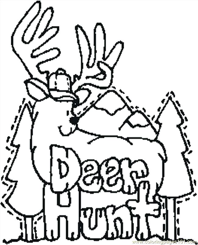 650x806 Magnificent Astounding Deer Coloring Page Best Of Hunting Pages